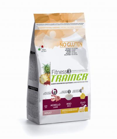 Trainer Fitness 3 Adult Medium/Maxi Lamb*Rice*Oil 3kg.