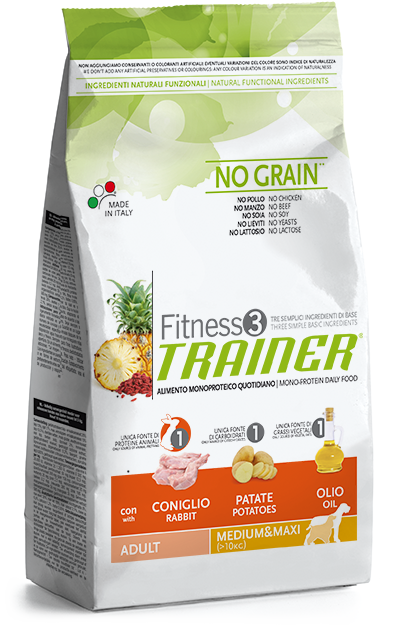 Trainer Fitness 3 Adult Medium/Maxi Rabbit*Potato*Oil 3kg