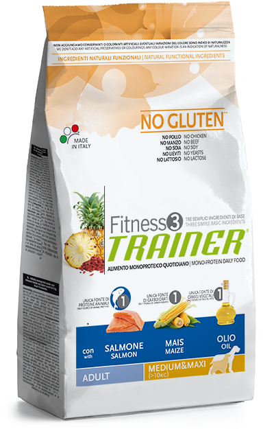 Trainer Fitness 3 Adult Medium&Maxi Salmon-Maize-Oil 3kg.