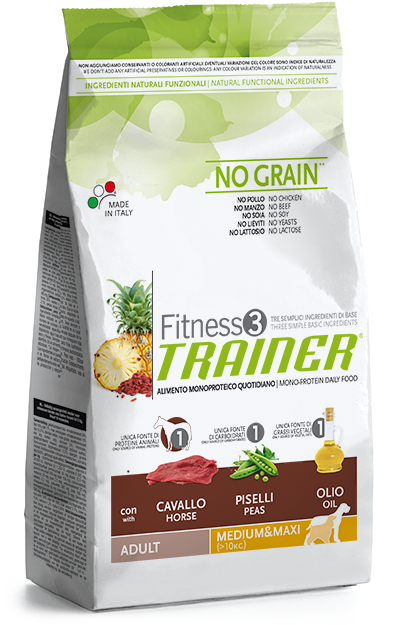 Trainer Fitness 3 Adult Medium&Maxi Horse-Peas-Oil 3kg