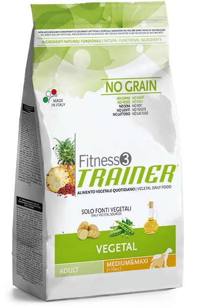 Trainer Fitness 3 Adult Medium/Maxi NO GRAIN VEGETAL 3kg.