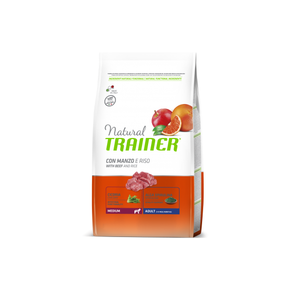 Trainer Natural Medium Adult Beef&Rice 3kg