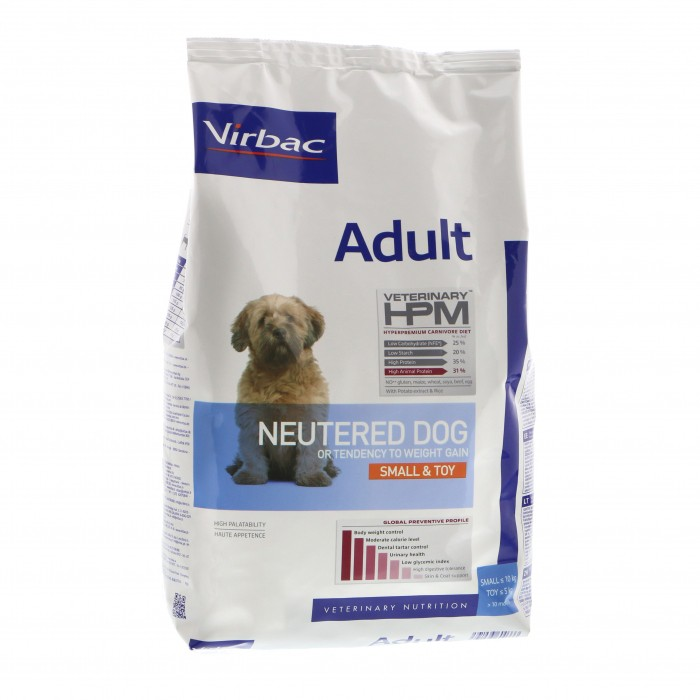 Virbac HPM Adult NEUTERED DOG SMALL & TOY 3 kg.