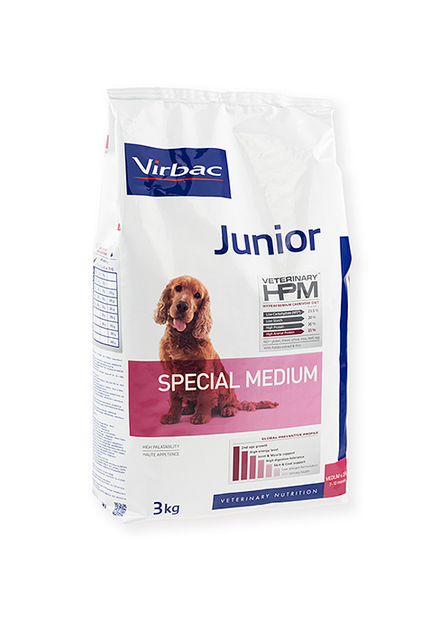 Virbac HPM Junior Dog Special Medium 7kg