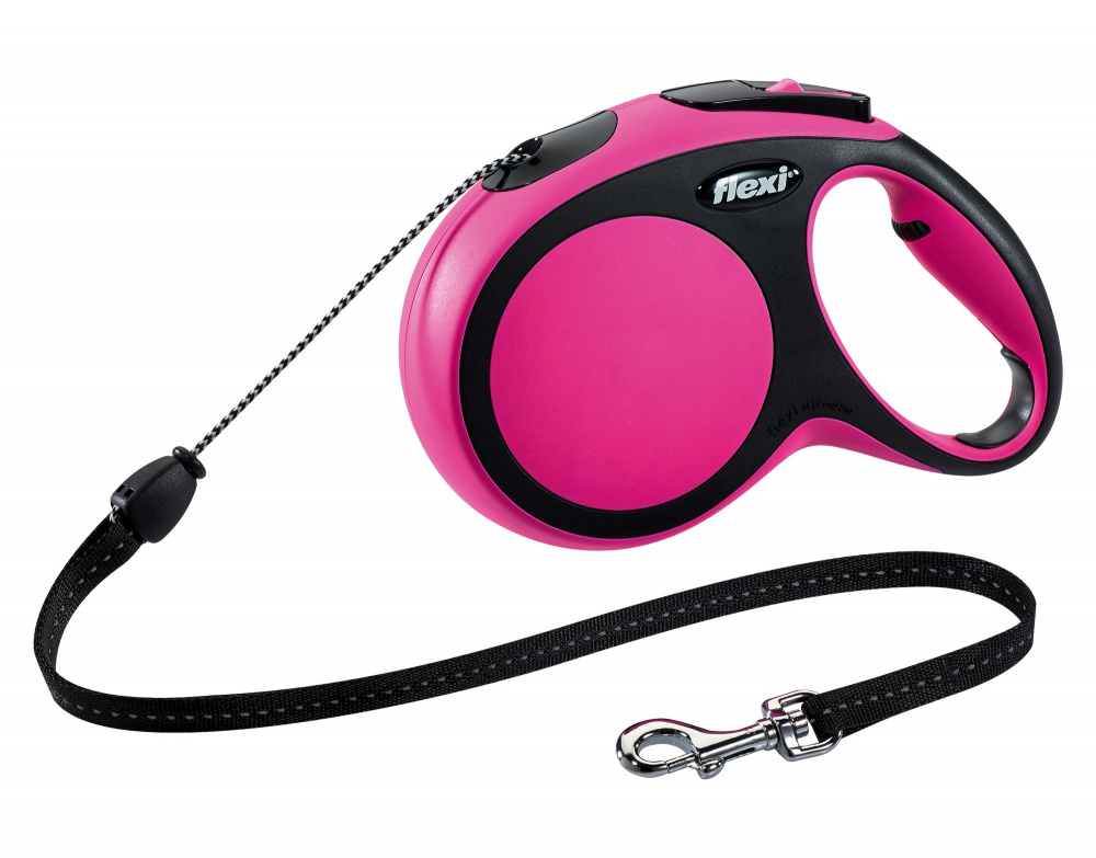 Flexi New Comfort S virvelė Pink 5m/12kg