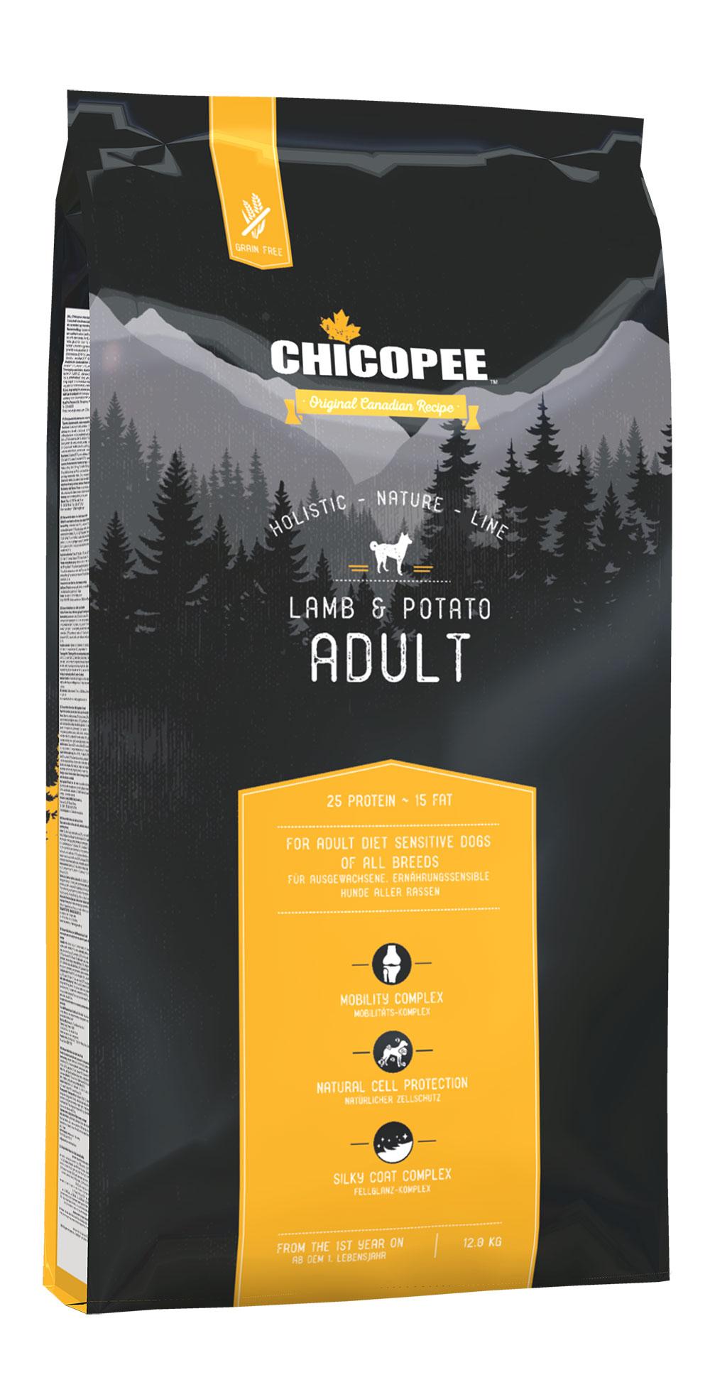Begrūdis Šunų Maistas Chicopee Adult Lamb & Potatot 12kg.