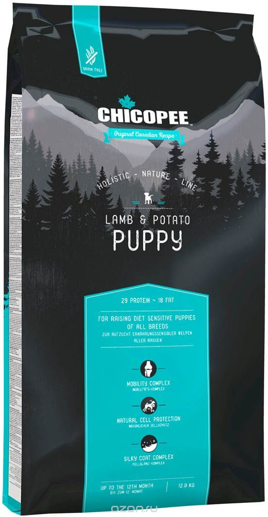 Begrūdis Šunų Maistas Chicopee Puppy Lamb & Potato 12kg.