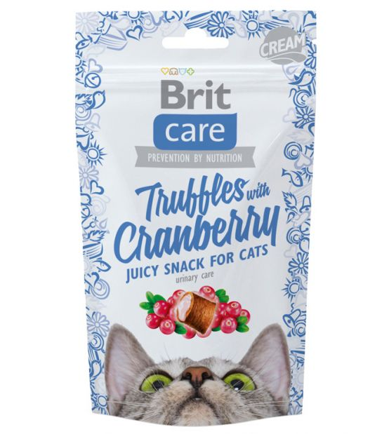 BRIT CARE Cat Truffles Cranberry skanėstai 50gr.