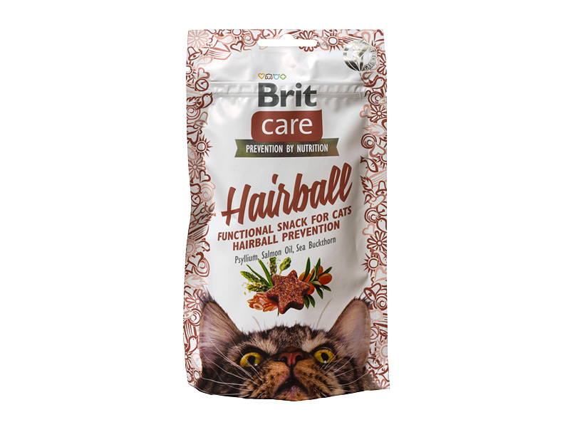 BRIT CARE Cat Hairball skanėstai 50gr.