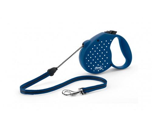 Flexi Dots M 5m. virvelė 20kg mėlynas
