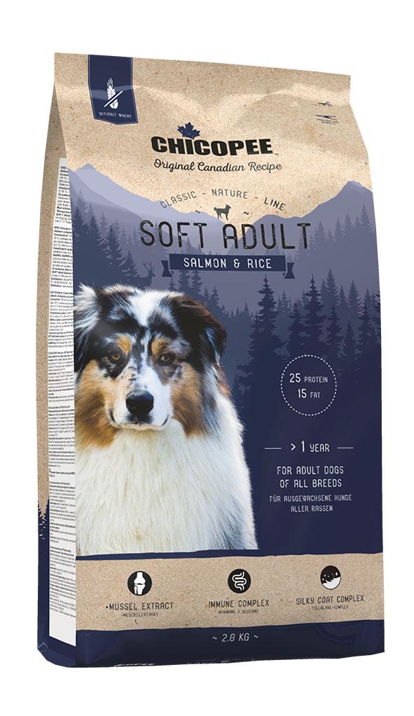 Šunų Maistas Chicopee Soft Adult Salmon & Rice 15kg.