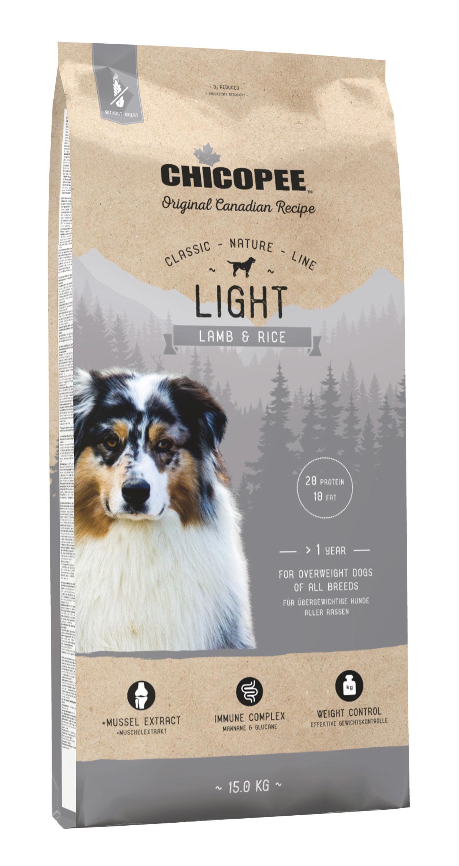 Šunų Maistas Chicopee Light Lamb & Rice 15kg.