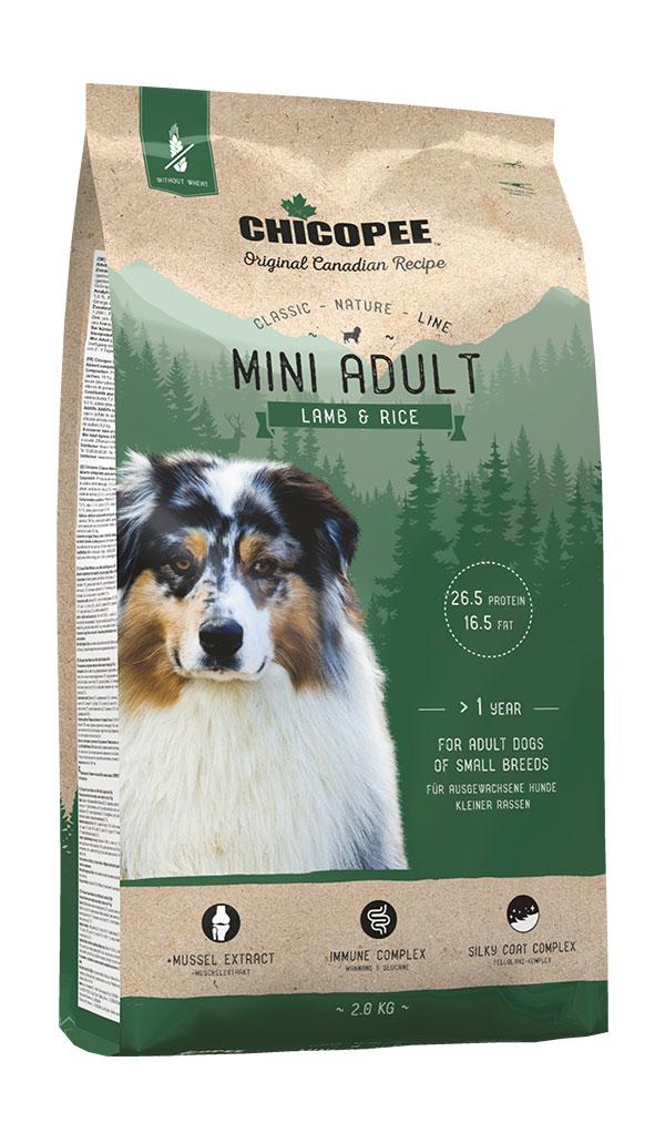 Šunų Maistas Chicopee Mini Adult Lamb & Rice 15kg.