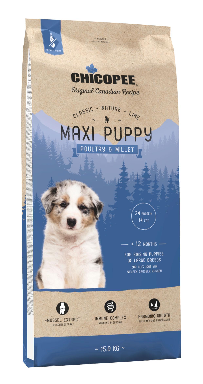 Šunų Maistas Chicopee Maxi Puppy Poultry & Millet 15kg.
