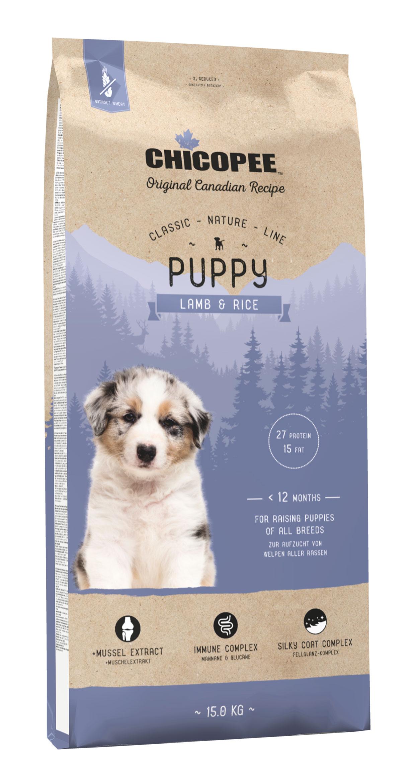 Šunų Maistas Chicopee Puppy Lamb & Rice 15kg.