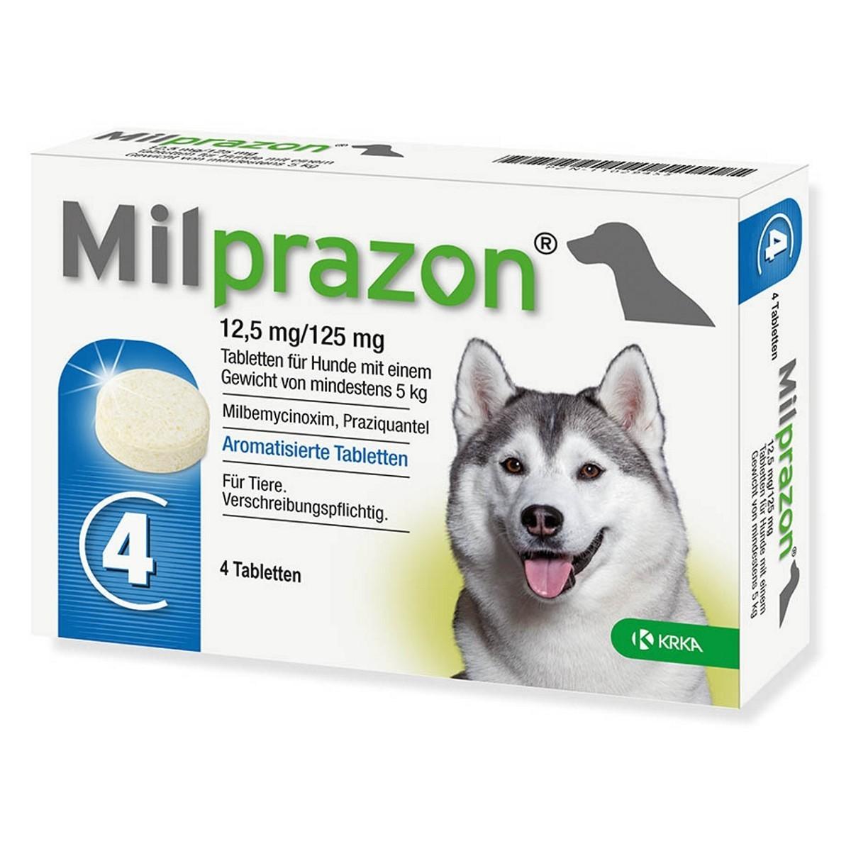 Milprazon 12,5 mg/125 mg. 5-25kg šunims  - 1 tab.