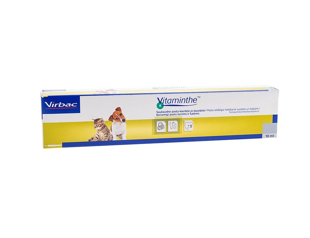 VIRBAC Vitaminthe pasta nuo kirmelių šunims ir katėms, 10 ml