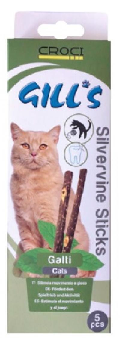 Gills cat silvervine pagaliukai 5vnt