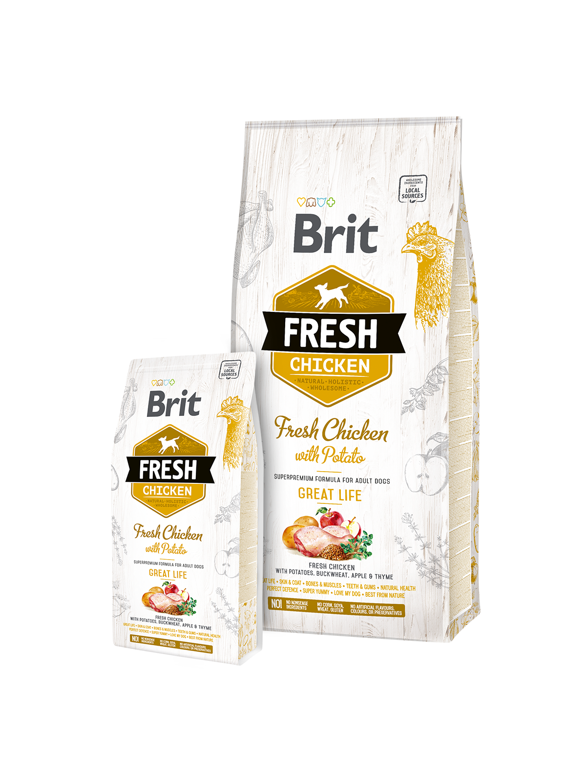 Brit Fresh Chicken with Potato Adult 2,5kg