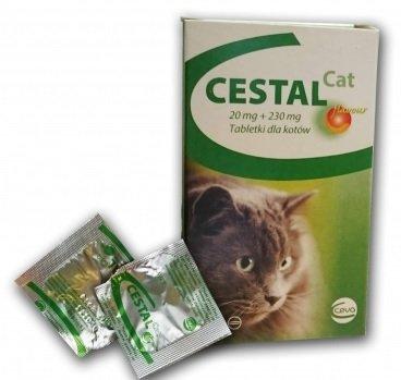 CESTAL CAT flavour prieš kirminus katėms 1 tabletė
