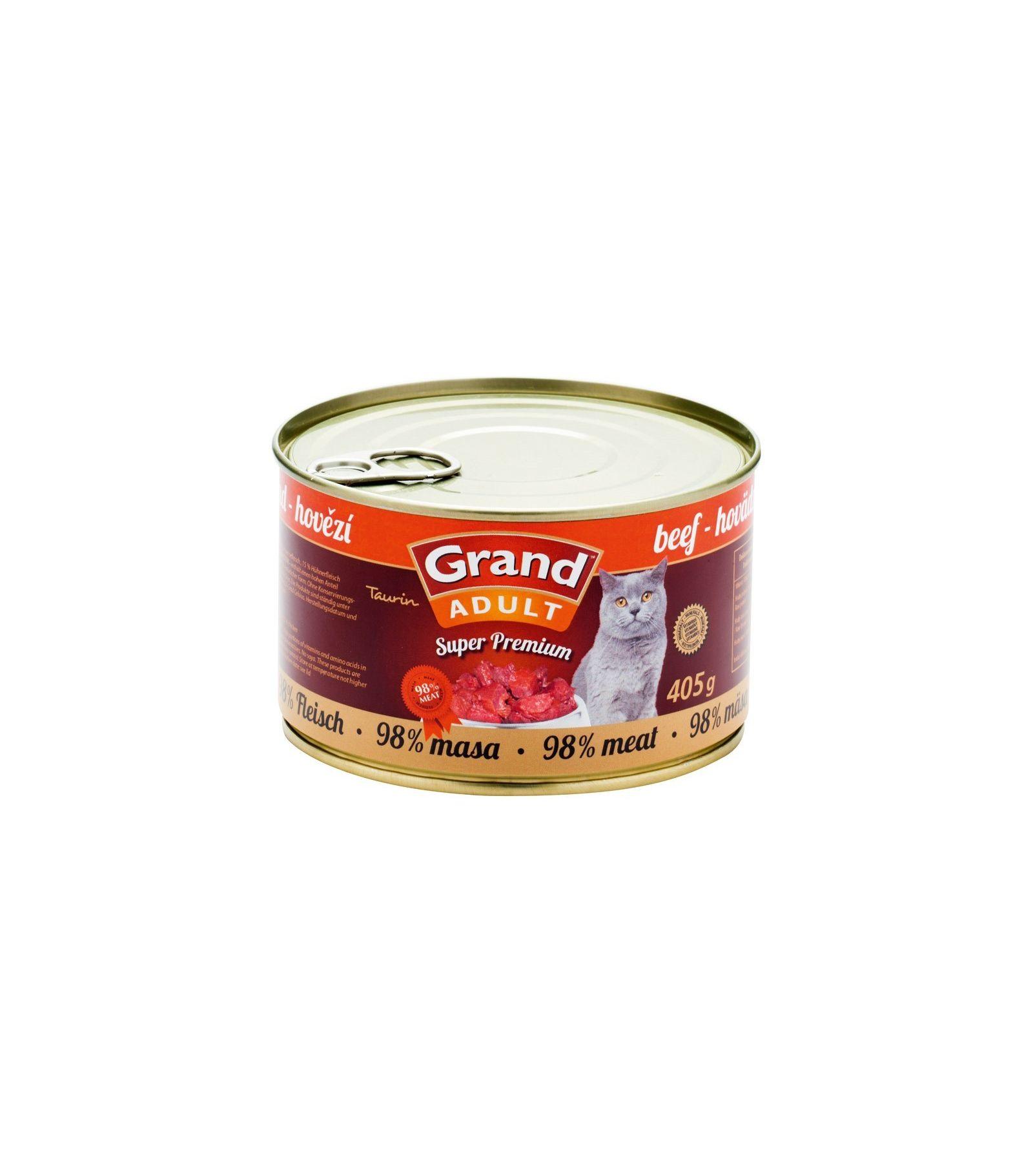 Grand Super Premium Beef konservai katėms 405gr
