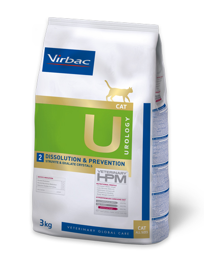 Virbac HPMD U2 Cat STRUVITE DISSOLUTION and Prevention 3kg