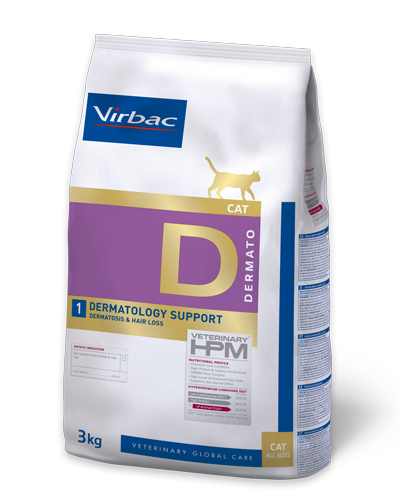 Virbac HPMD D1 Cat DERMATOLOGY SUPPORT 3kg