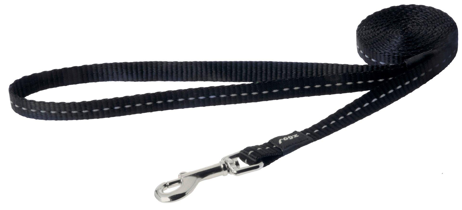 Rogz pavadys su atšvaitu HL14A Black 1,8m-1,1cm