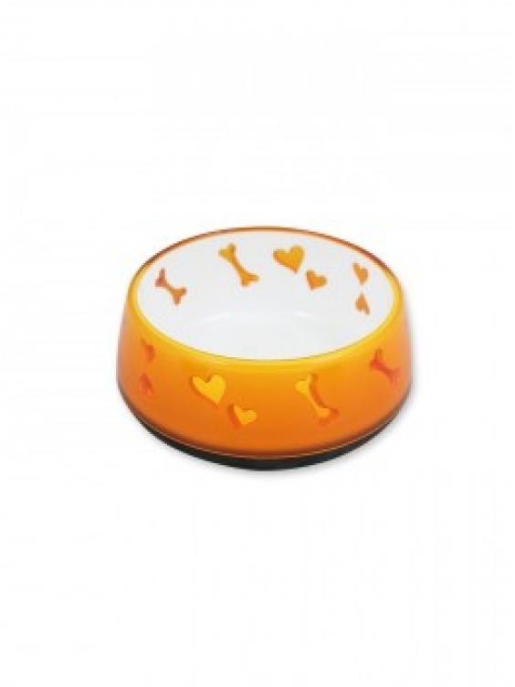 Dubenėlis  Dog Love 300ml oranžinis