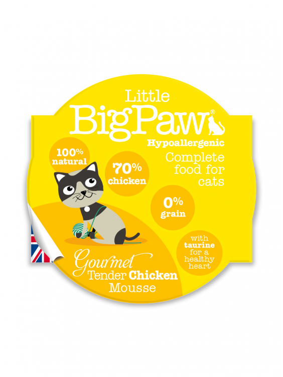 Konservai katėms Little Big Paw Tender Chicken 85g
