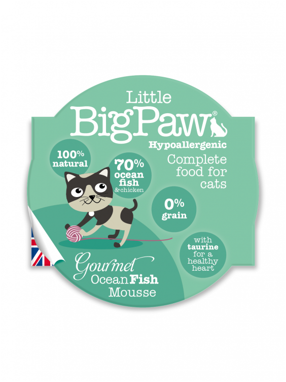 Konservai katėms Little Big Paw Ocean Fish 85g