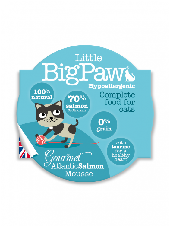 Konservai katėms Little Big Paw Atlantic Salmon 85g