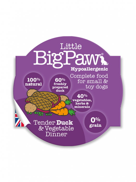 Konservai Šunims Big Paw Tender Duck & Vegetable Dinner 150gr