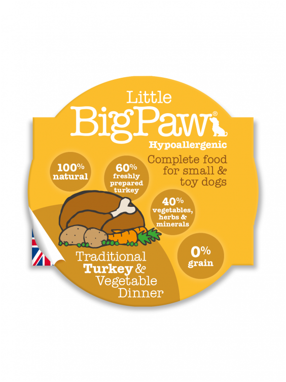 Konservai Šunims Big Paw Turkey & Vegetable Dinner 150gr