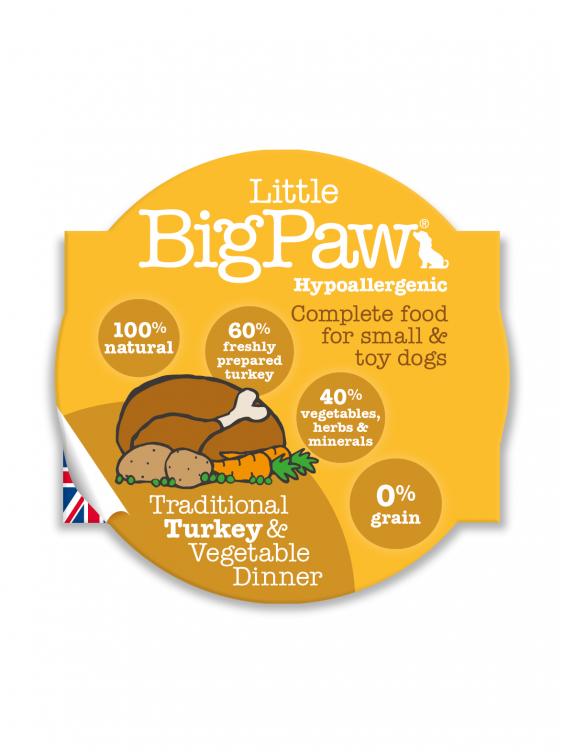 Konservai Šunims Big Paw Turkey & Vegetable Dinner 150gr