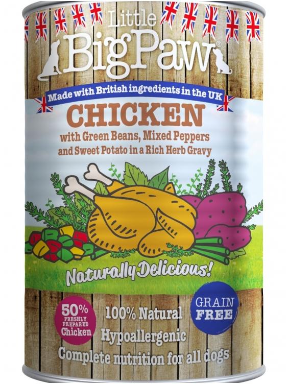 Konservai Šunims Big Paw Chicken, Potato, Peppers, Beans & Herbs 390gr