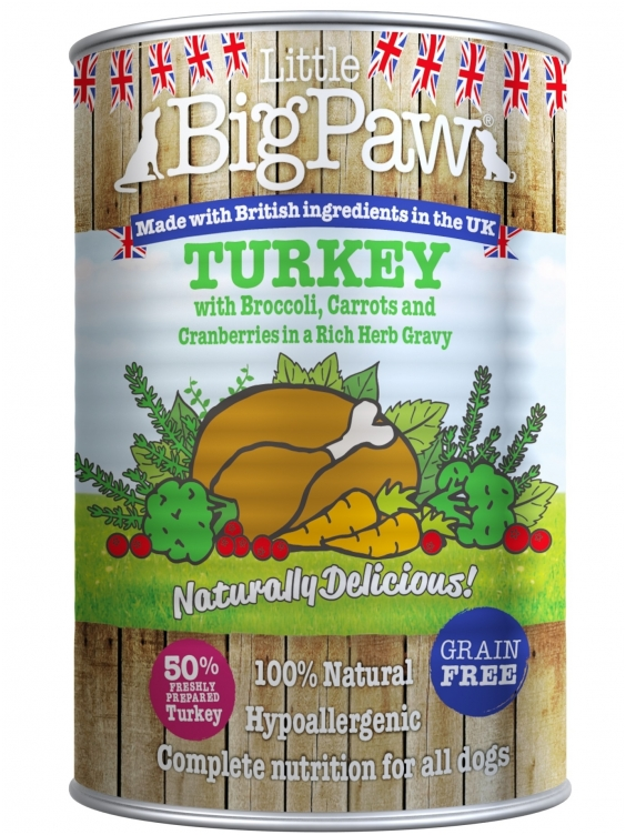 Konservai Šunims Big Paw Turkey, Cranberries, Brocolli, Carrot & Herbs 390g