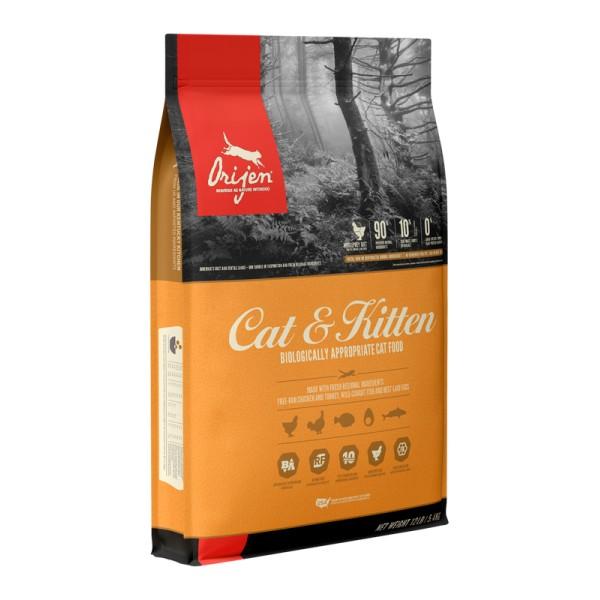 Begrūdis kačių maistas ORIJEN Cat & Kitten 1,8kg.