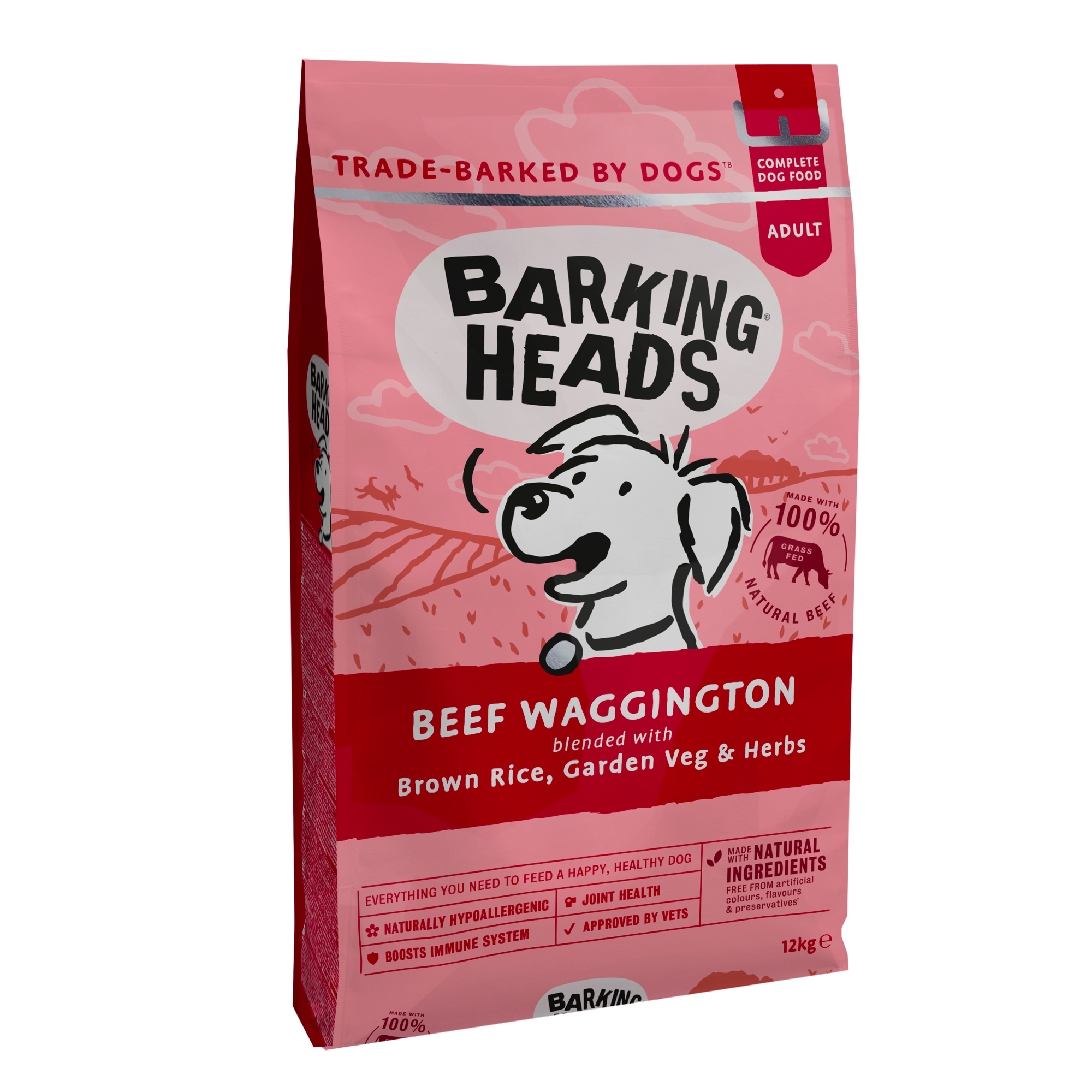 Barking Heads Beef Waggington Jautiena 12kg.