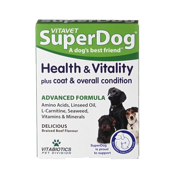 Vitavet Superdog Health & Vitality papildas N30