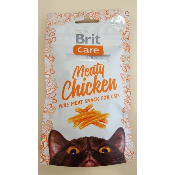 BRIT CARE Cat Meaty Chicken skanėstai 50gr.