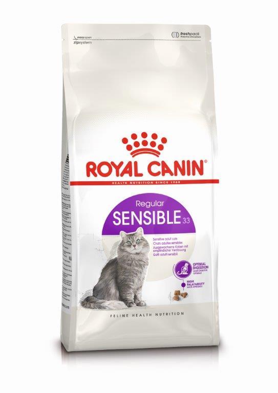 Kačių maistas Royal Canin Sensible 33 4kg.