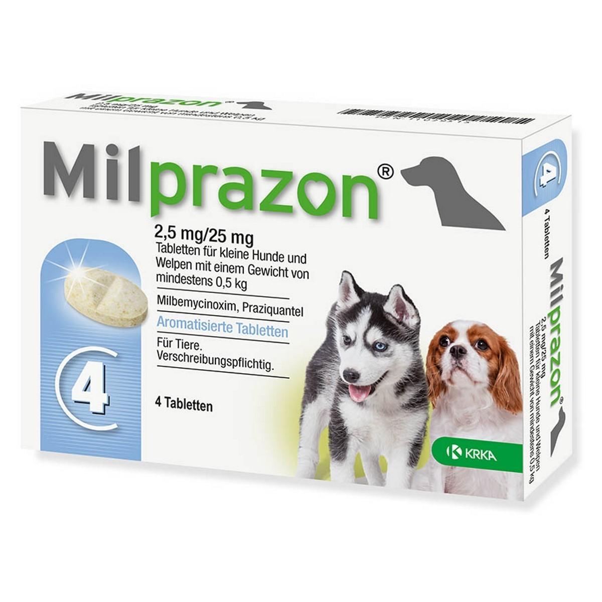 Milprazon 2,5 mg/25 mg tabletės mažiems šunims ir šuniukams 1 tab.