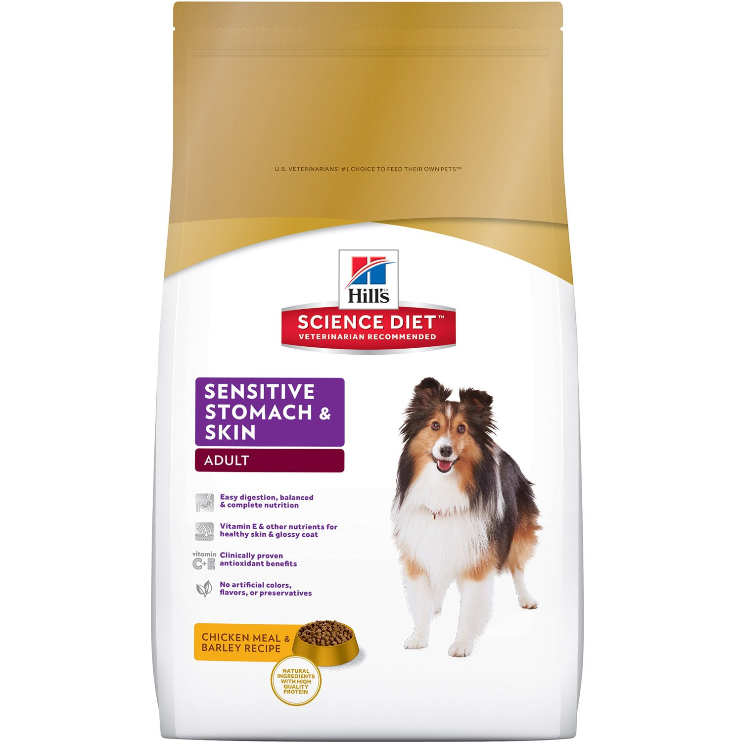 Hills Canine Adult Sensitive stomach and skin  12kg.