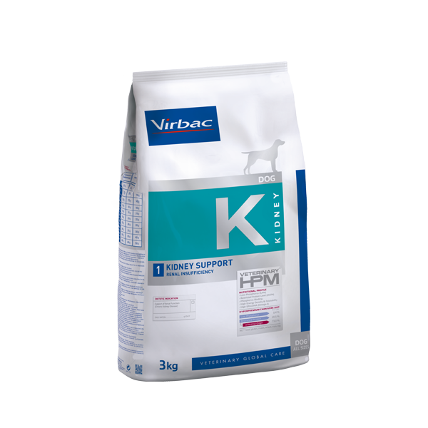 Virbac HPMD K1 Dog KIDNEY SUPPORT 12kg.