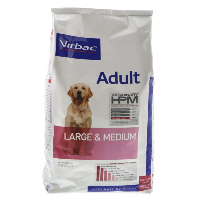 Virbac HPM  Adult LARGE & MEDIUM dogs 12kg