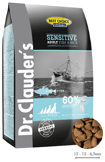 Dr. Clauders Sensitive Adult Fish&Rice 20kg.