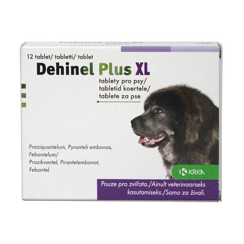 DEHINEL PLUS tabletės dideliems šunims XL 6 tab.