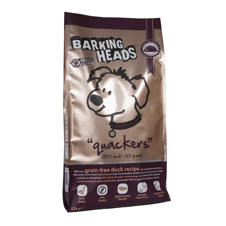 Barking Heads Quackers Grain Free 2kg.