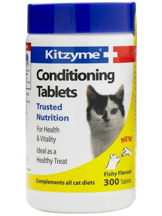 Kitzyme Conditionining tablets papildas katėms  N100